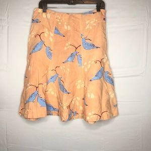 Anthropologie Meadow Rue Bird Skirt